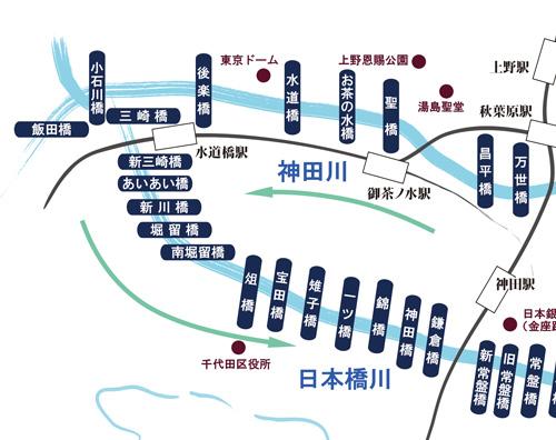 小舟で江戸の外堀巡り