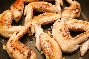 鶏手羽先の塩レモン焼き