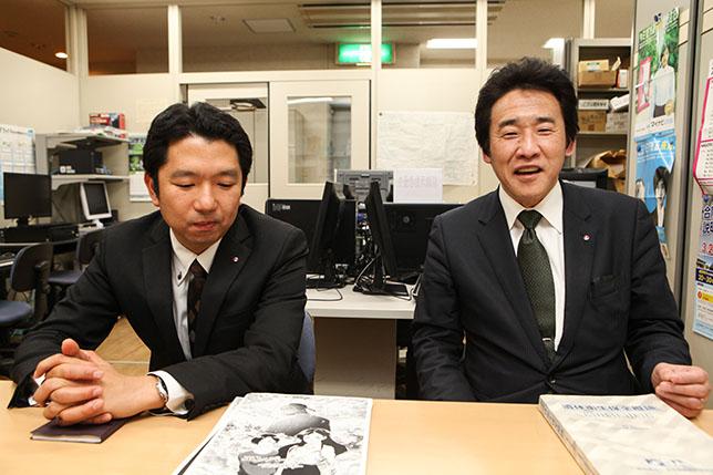 今回、お話を伺ったIFSA(一般社団法人 日本遺体衛生保全協会)の事務局長の加藤裕二さん(写真右)と日本ヒューマンセレモニー専門学校の米山誠一さん